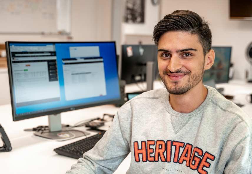 Mitarbeiter der IT Fabrik - Marcel Zimmer